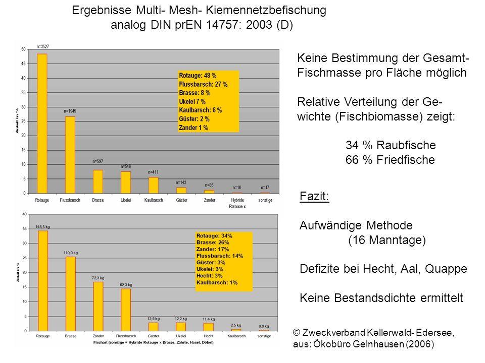 Ergebnisse Multi- Mesh- Kiemennetzbefischung