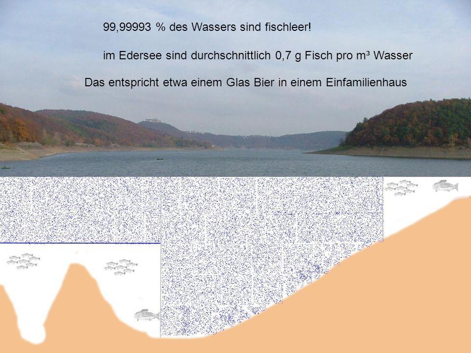 99,99993 % des Wassers sind fischleer!