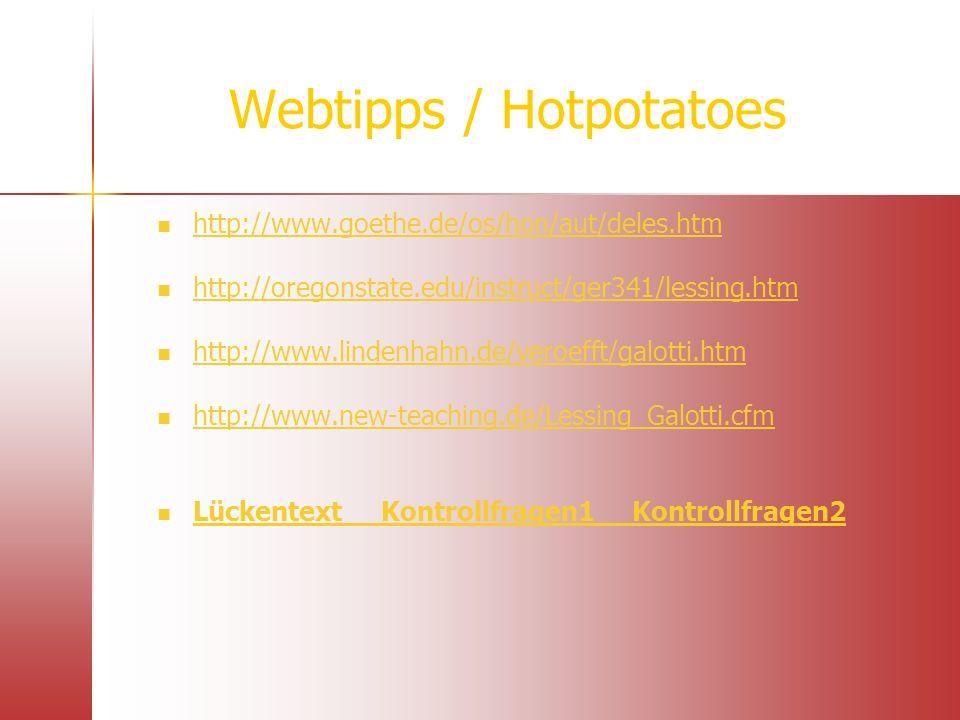 Webtipps / Hotpotatoes