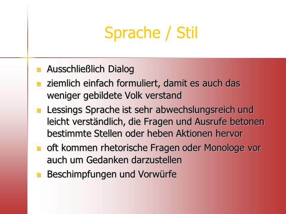 Sprache / Stil Ausschließlich Dialog