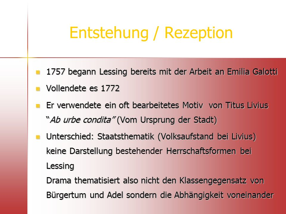 Entstehung / Rezeption