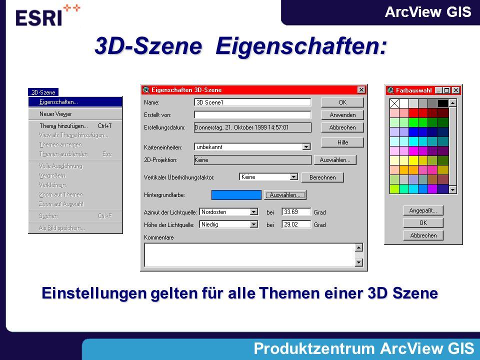 3D-Szene Eigenschaften: