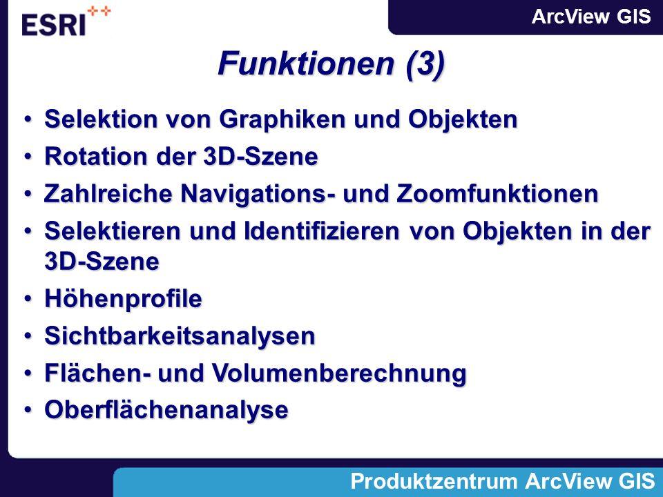 Funktionen (3) Selektion von Graphiken und Objekten