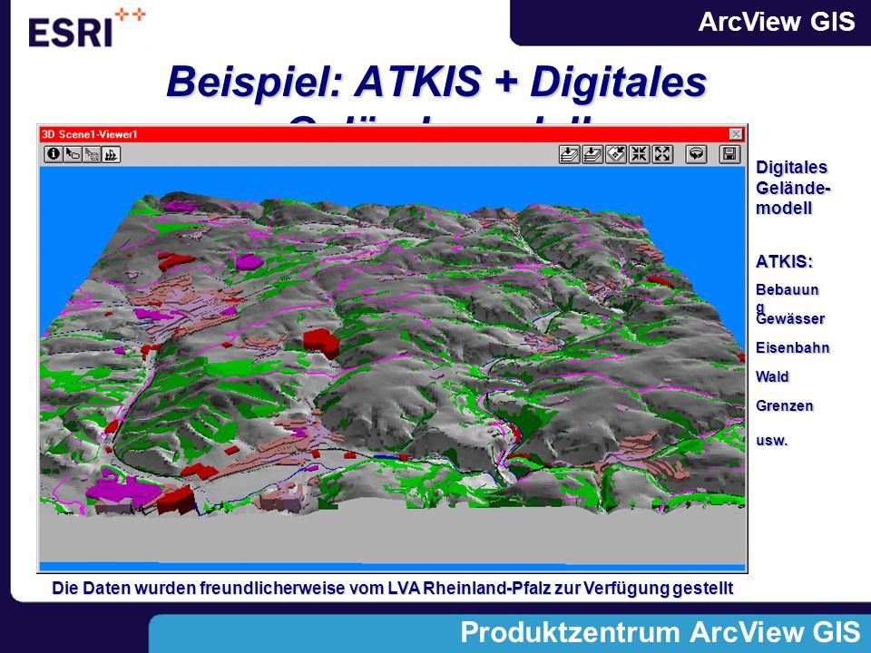Beispiel: ATKIS + Digitales Geländemodell