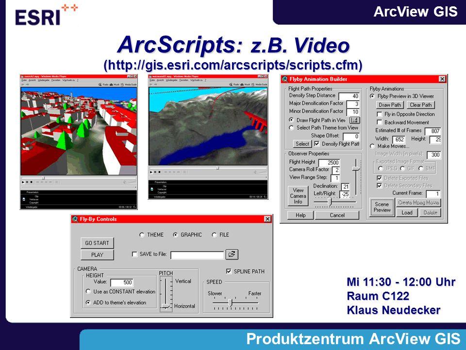 ArcScripts: z.B. Video (http://gis.esri.com/arcscripts/scripts.cfm)