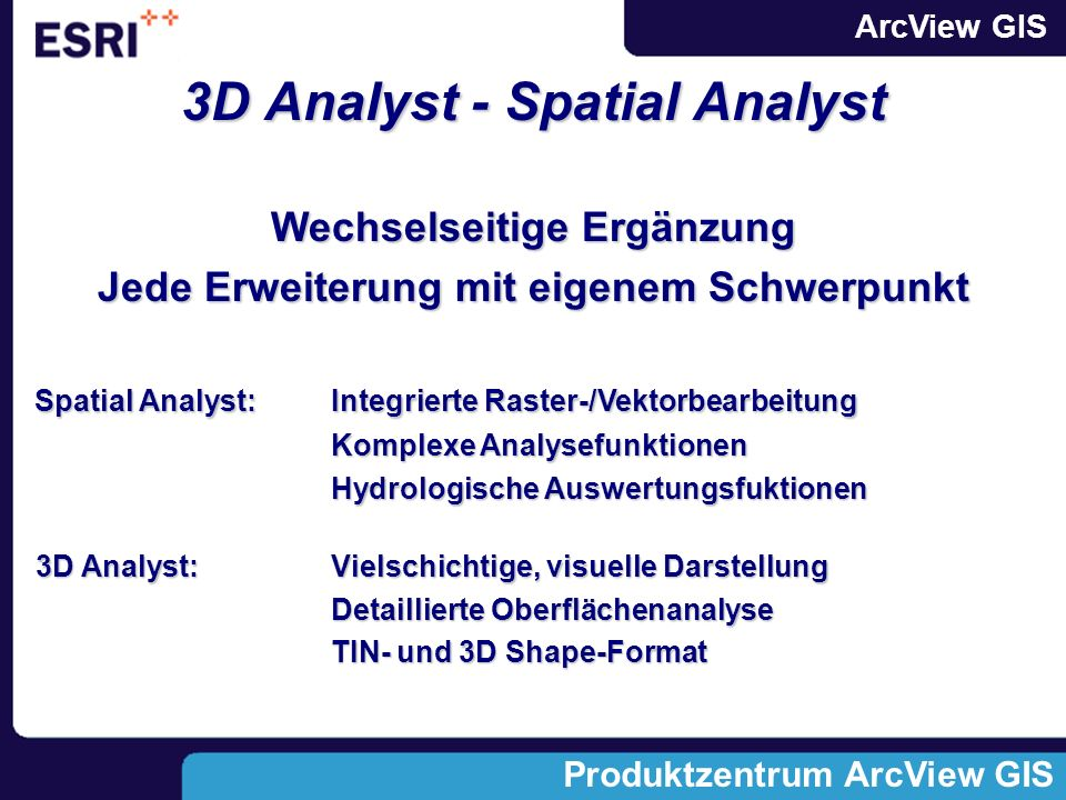 3D Analyst - Spatial Analyst