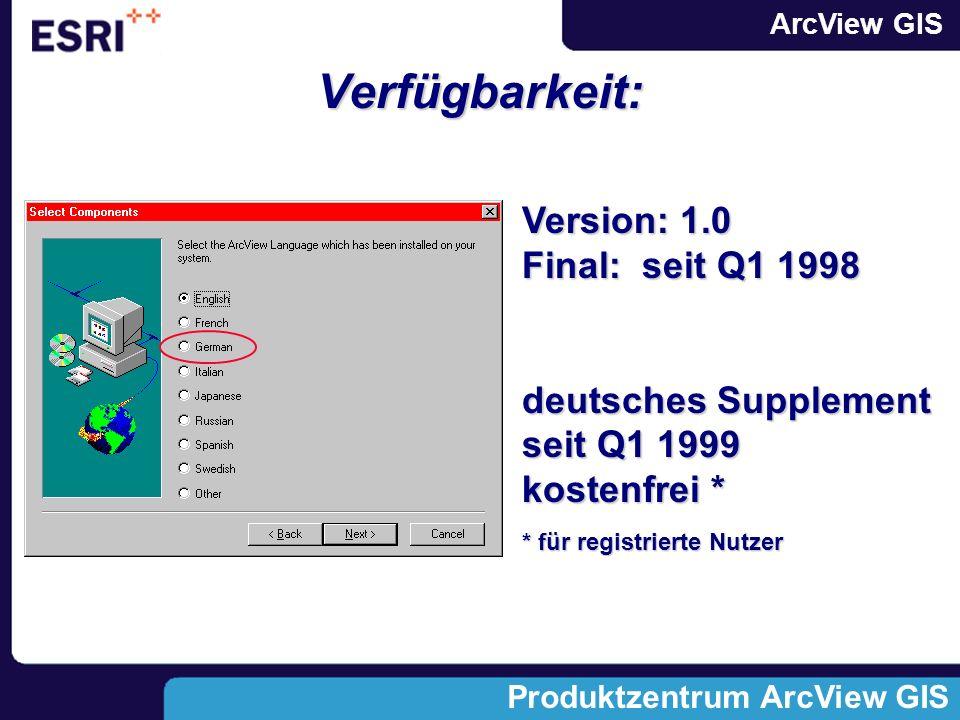 Verfügbarkeit: Version: 1.0 Final: seit Q1 1998