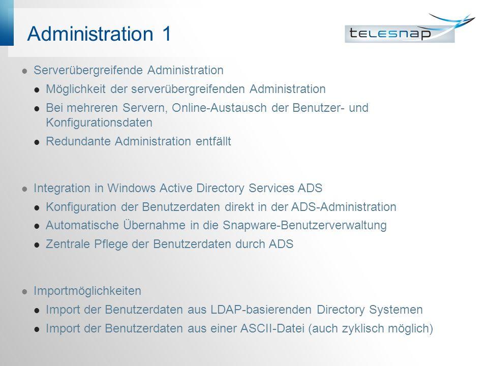 Administration 1 Serverübergreifende Administration