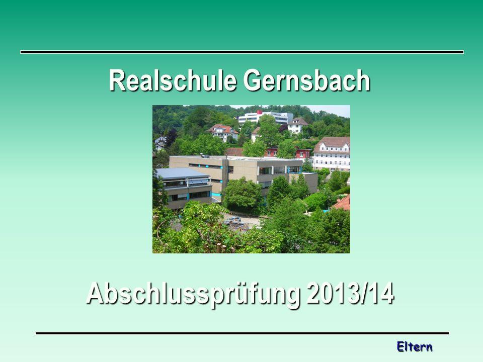 Realschule Gernsbach Abschlussprüfung 2013/14