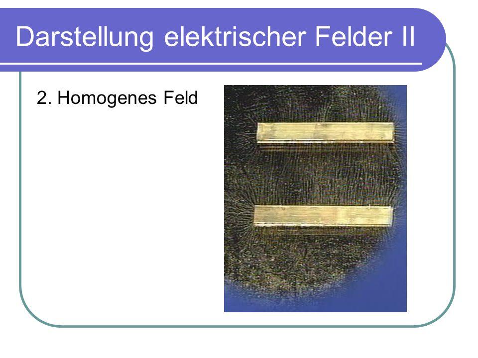 Darstellung elektrischer Felder II