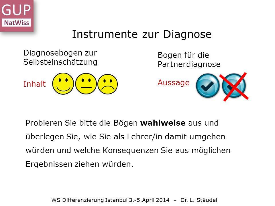 Instrumente zur Diagnose