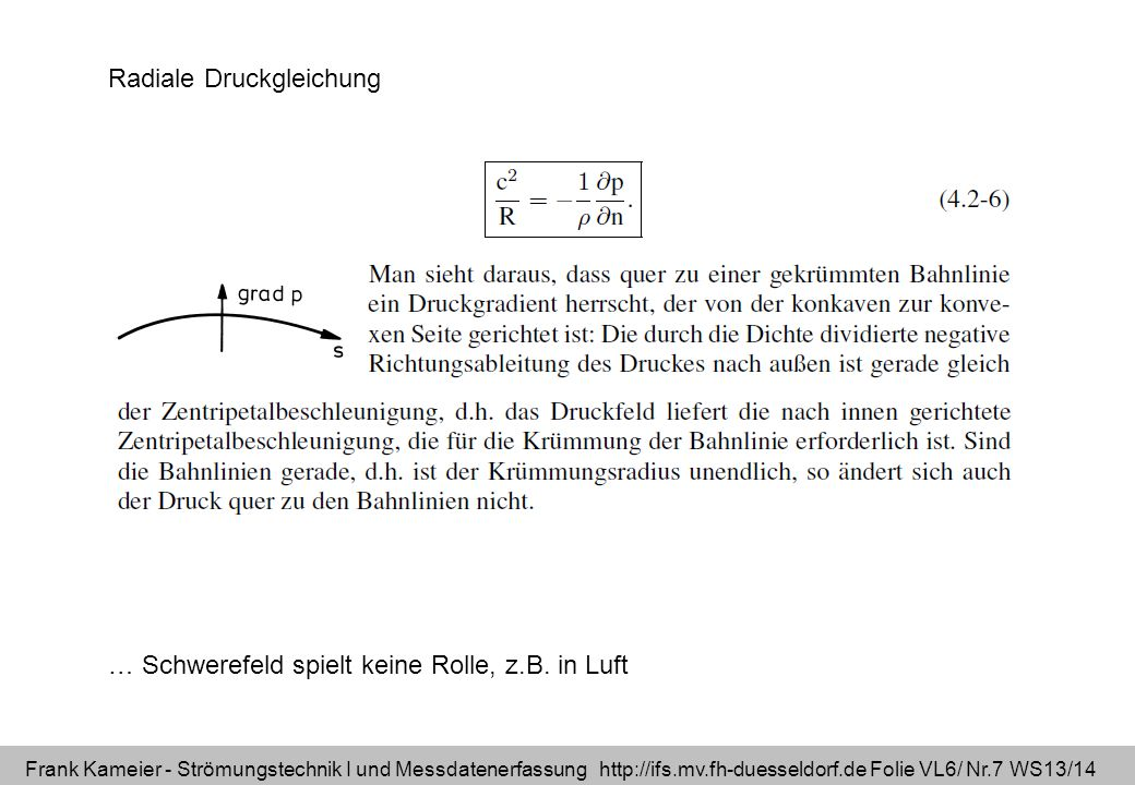 Radiale Druckgleichung