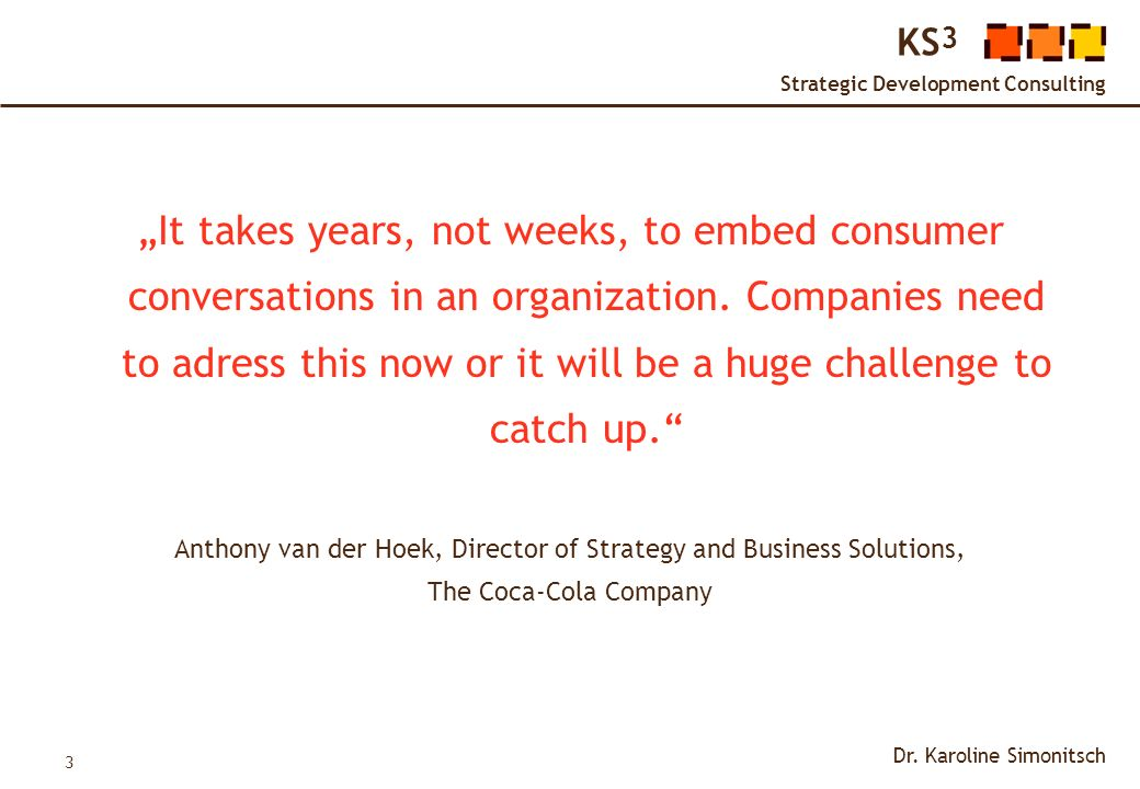 Anthony van der Hoek, Director of Strategy and Business Solutions,