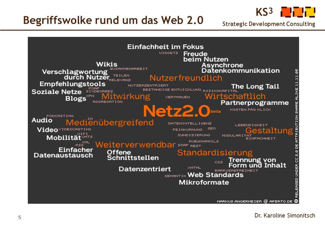 Begriffswolke rund um das Web 2.0