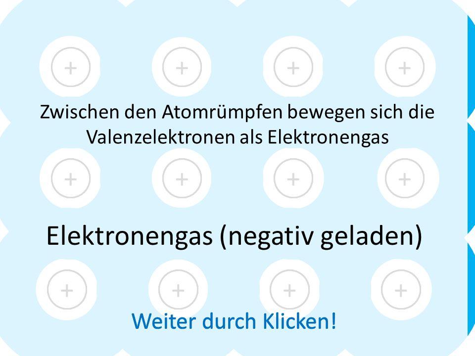 Elektronengas (negativ geladen)