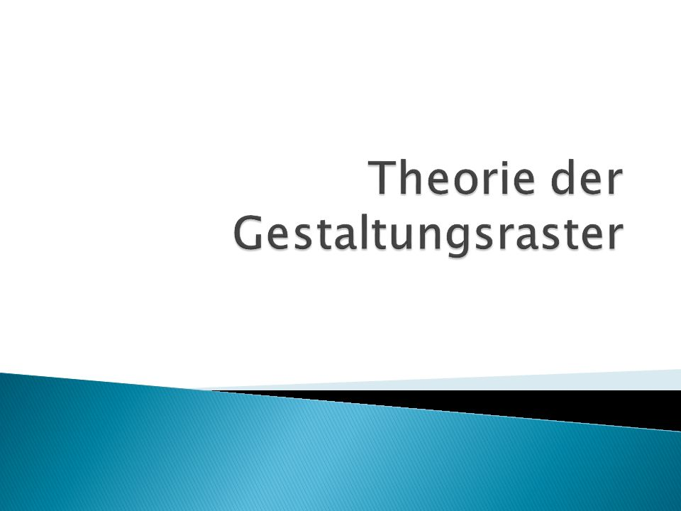 Theorie der Gestaltungsraster