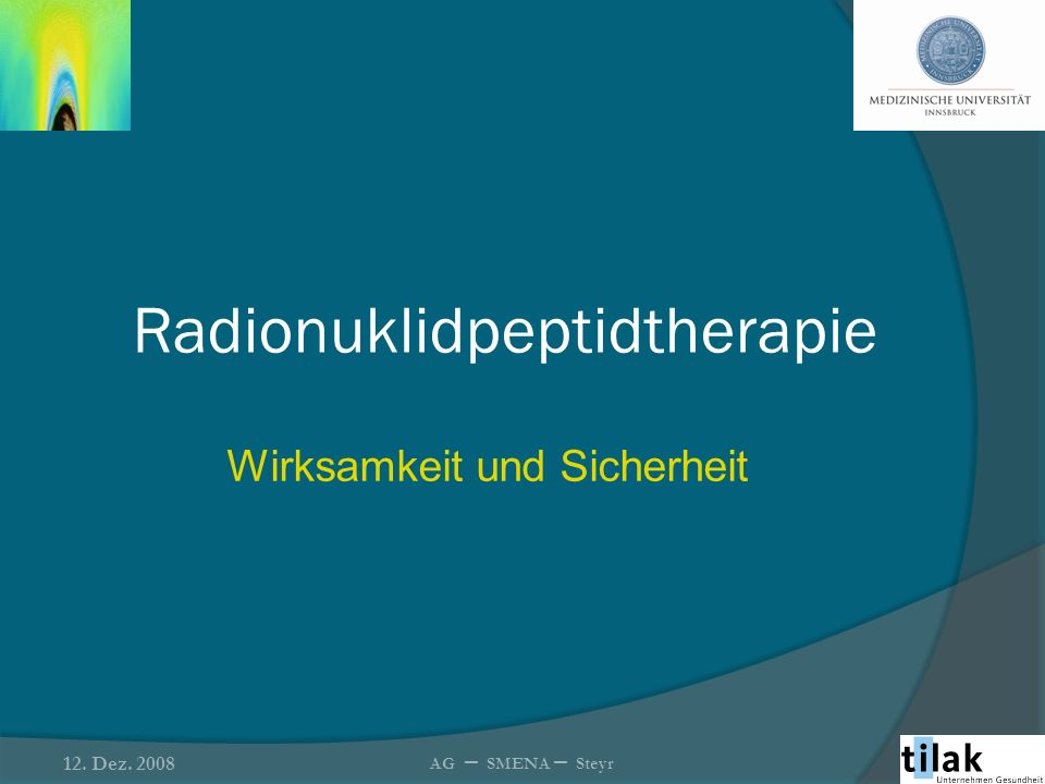 Radionuklidpeptidtherapie