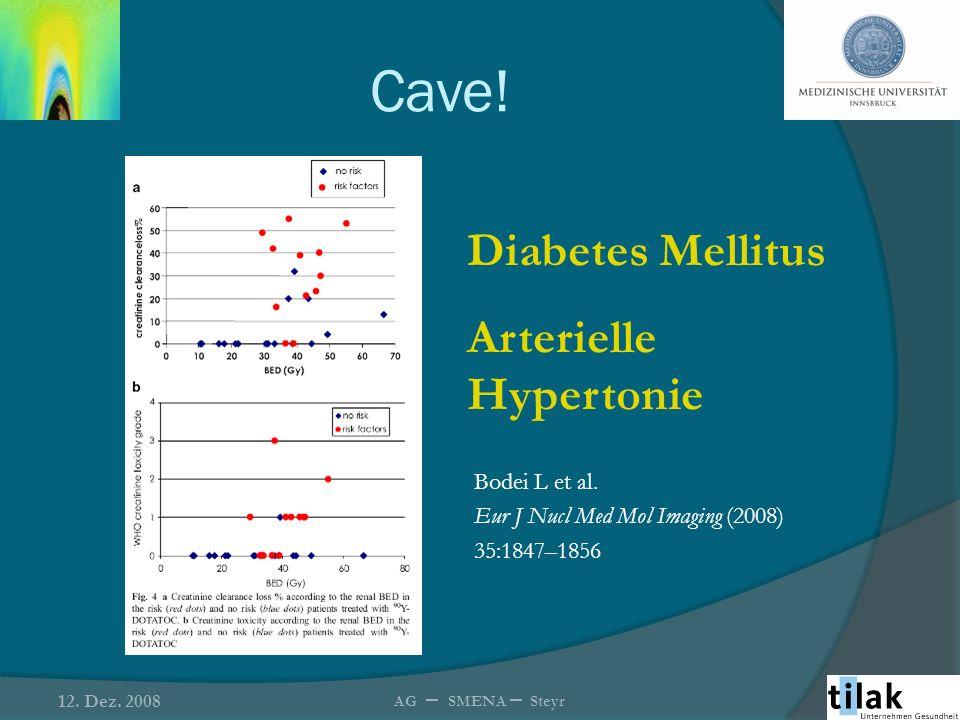 Cave! Diabetes Mellitus Arterielle Hypertonie