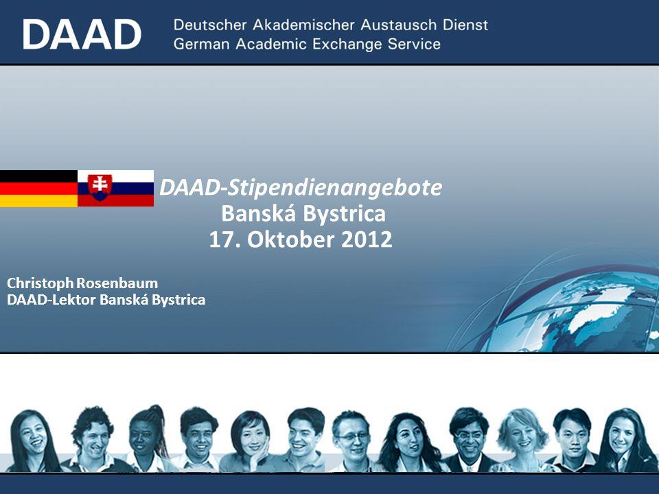 DAAD-Stipendienangebote
