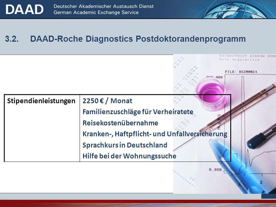 3.2. DAAD-Roche Diagnostics Postdoktorandenprogramm