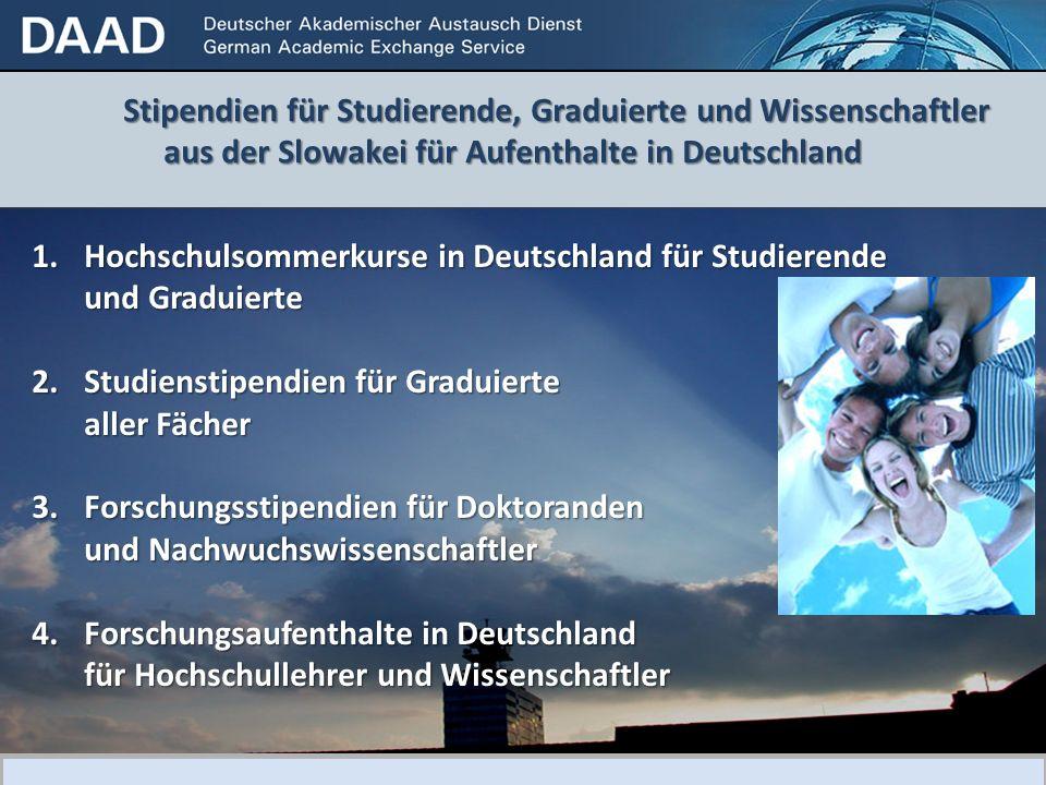 Hochschulsommerkurse in Deutschland für Studierende und Graduierte