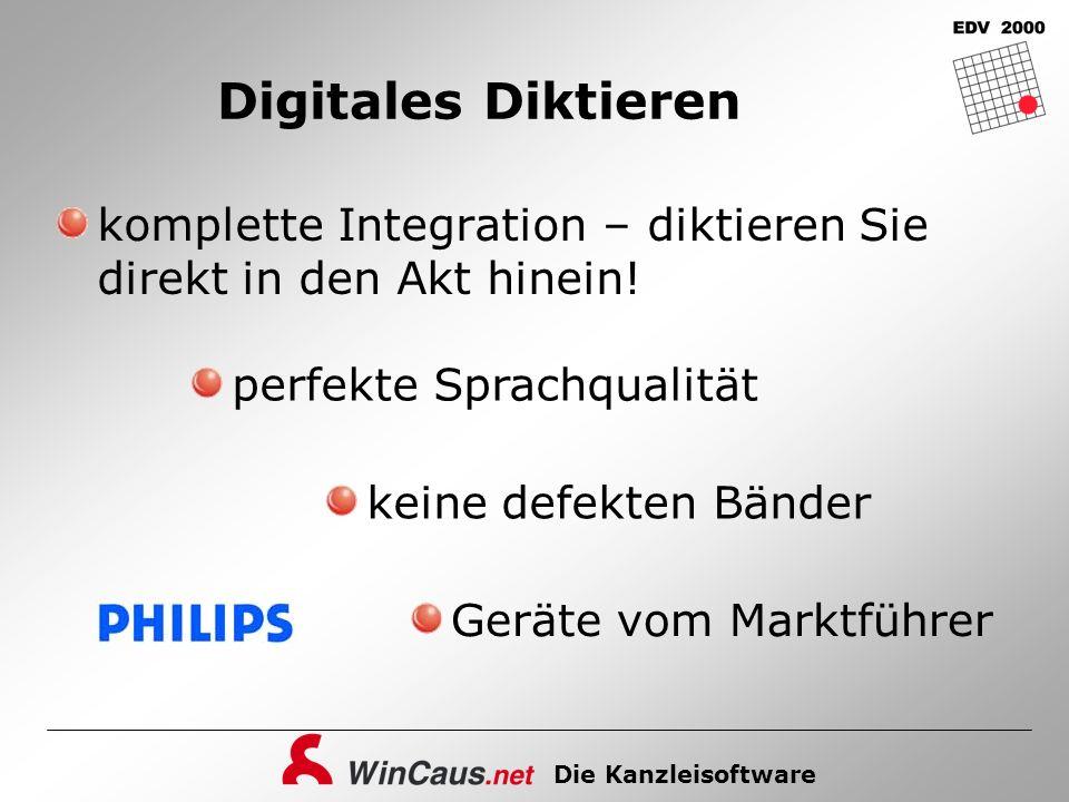 Digitales Diktieren komplette Integration – diktieren Sie direkt in den Akt hinein! perfekte Sprachqualität.