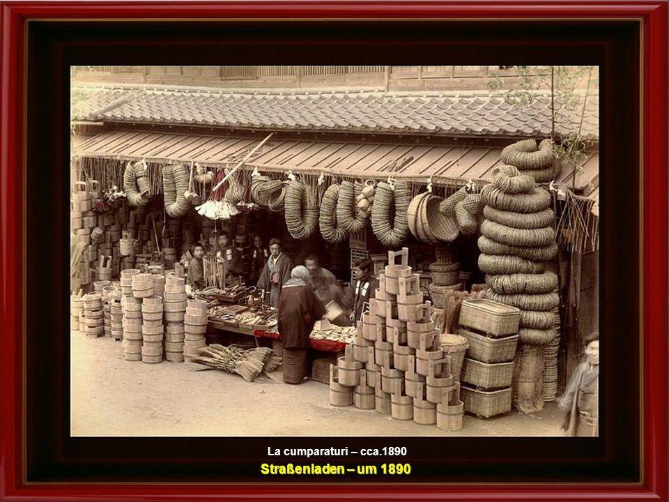 La cumparaturi – cca.1890 Straßenladen – um 1890