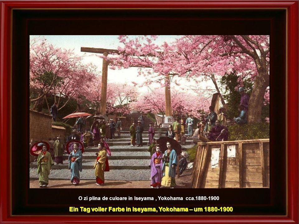 Ein Tag voller Farbe in Iseyama, Yokohama – um 1880-1900