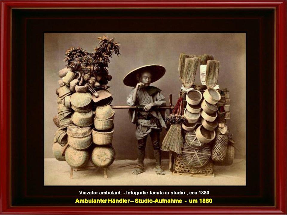 Ambulanter Händler – Studio-Aufnahme - um 1880