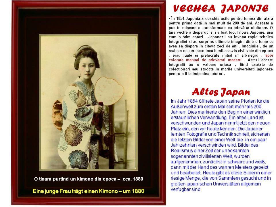 O tinara purtind un kimono din epoca – cca. 1880