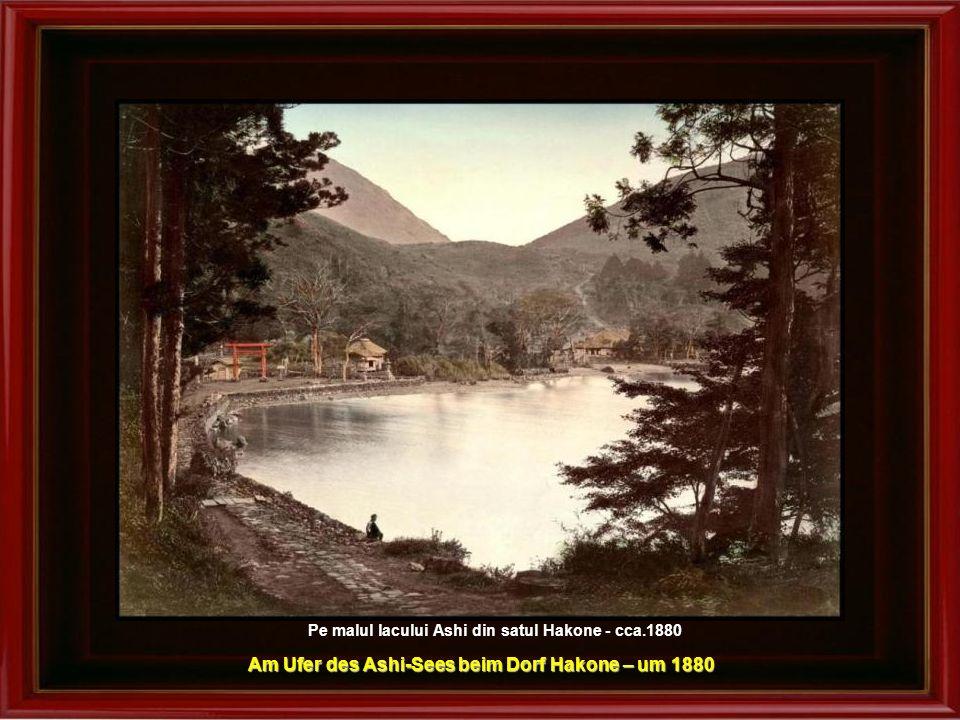 Am Ufer des Ashi-Sees beim Dorf Hakone – um 1880