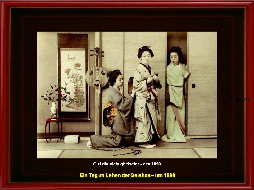 Ein Tag im Leben der Geishas – um 1890