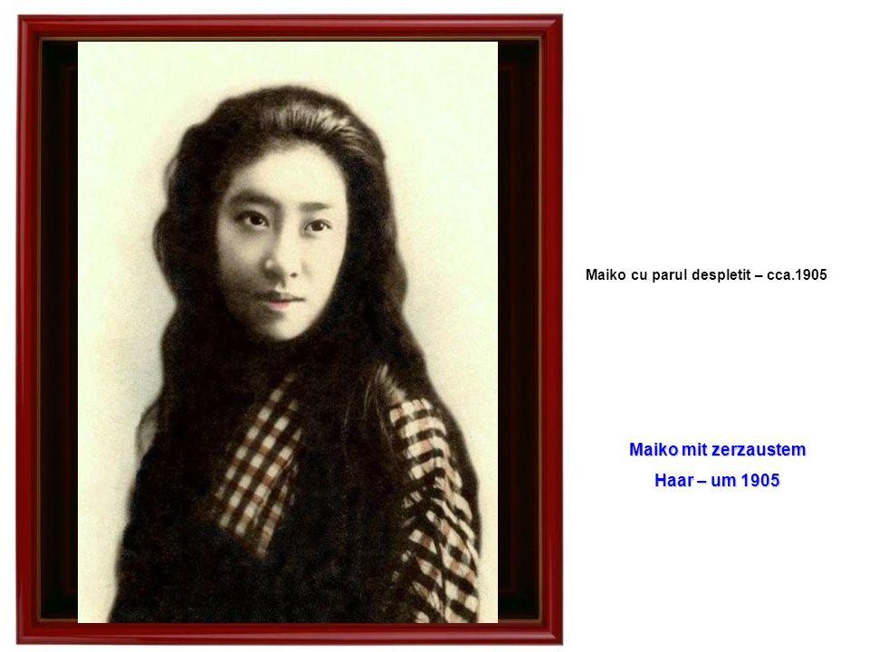 Maiko cu parul despletit – cca.1905