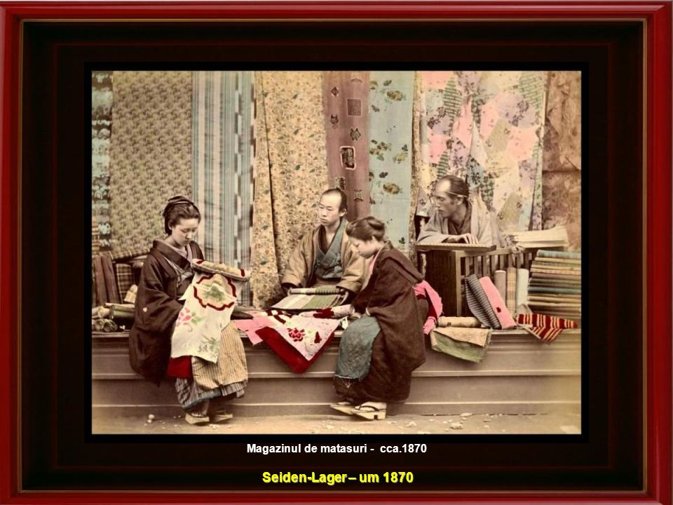 Magazinul de matasuri - cca.1870