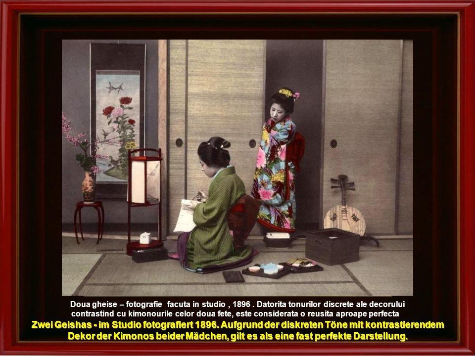 Doua gheise – fotografie facuta in studio , 1896