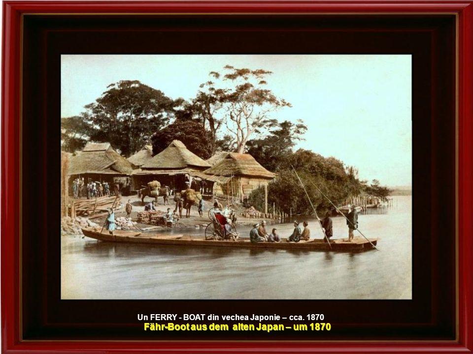 Fähr-Boot aus dem alten Japan – um 1870