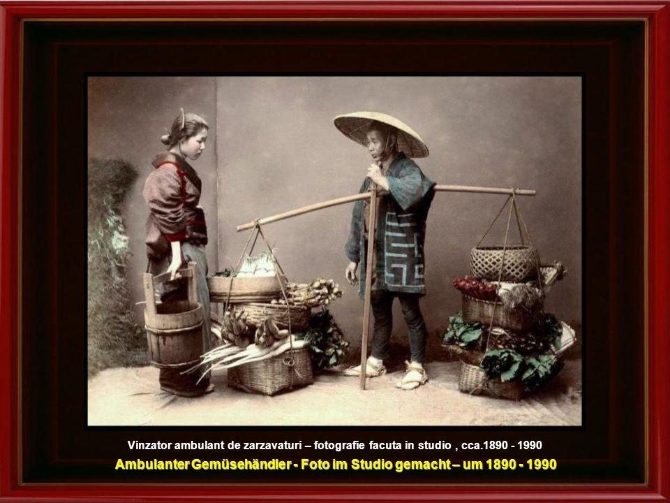 Ambulanter Gemüsehändler - Foto im Studio gemacht – um 1890 - 1990