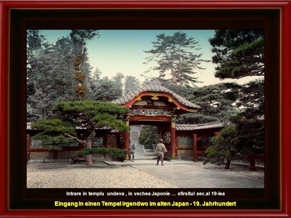 Eingang in einen Tempel irgendwo im alten Japan - 19. Jahrhundert