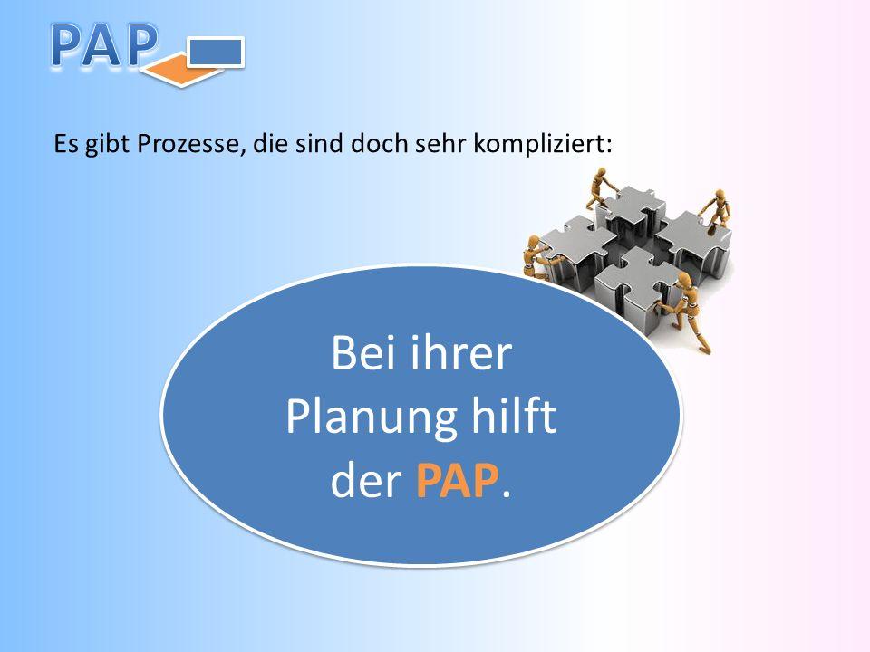 Bei ihrer Planung hilft der PAP.