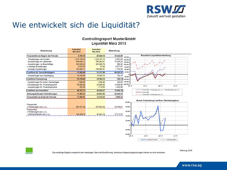 Wie entwickelt sich die Liquidität