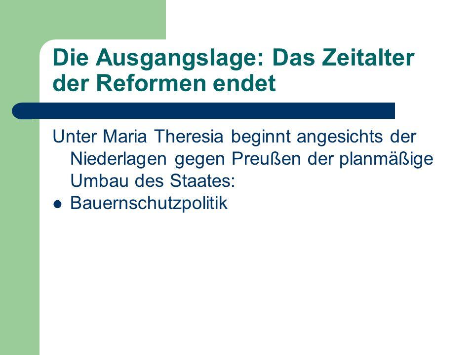 Die Ausgangslage: Das Zeitalter der Reformen endet