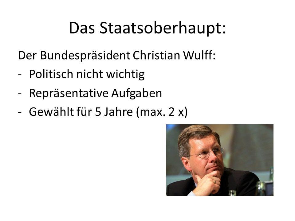 Das Staatsoberhaupt: Der Bundespräsident Christian Wulff: