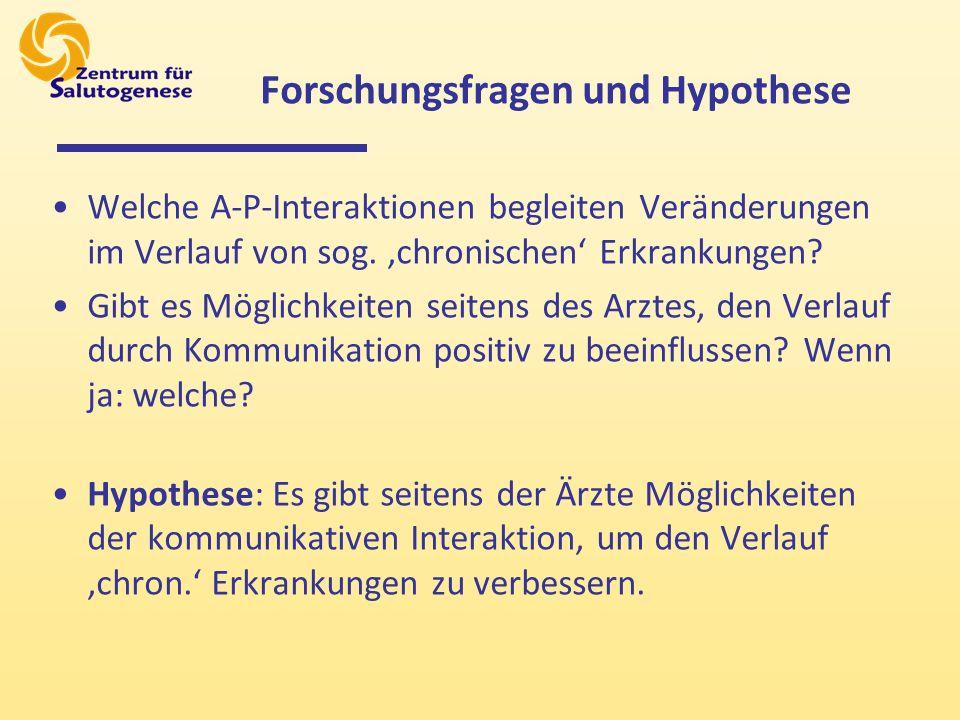 Forschungsfragen und Hypothese