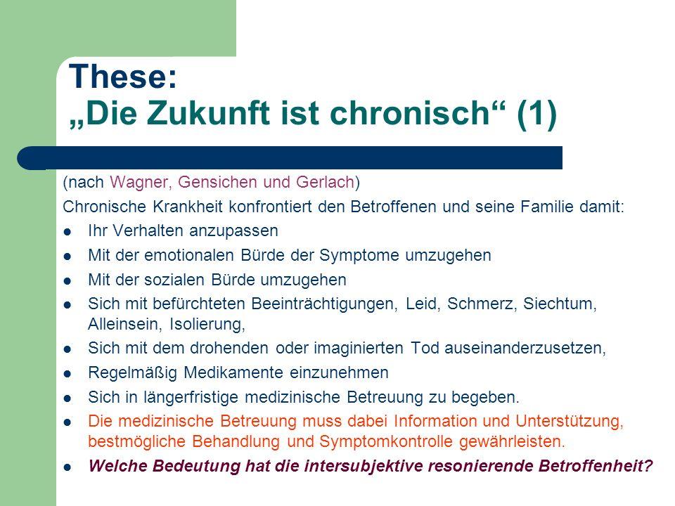 """These: """"Die Zukunft ist chronisch (1)"""