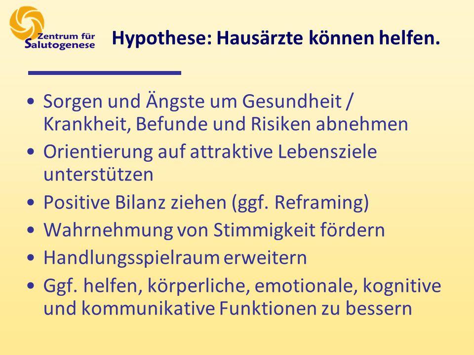 Hypothese: Hausärzte können helfen.