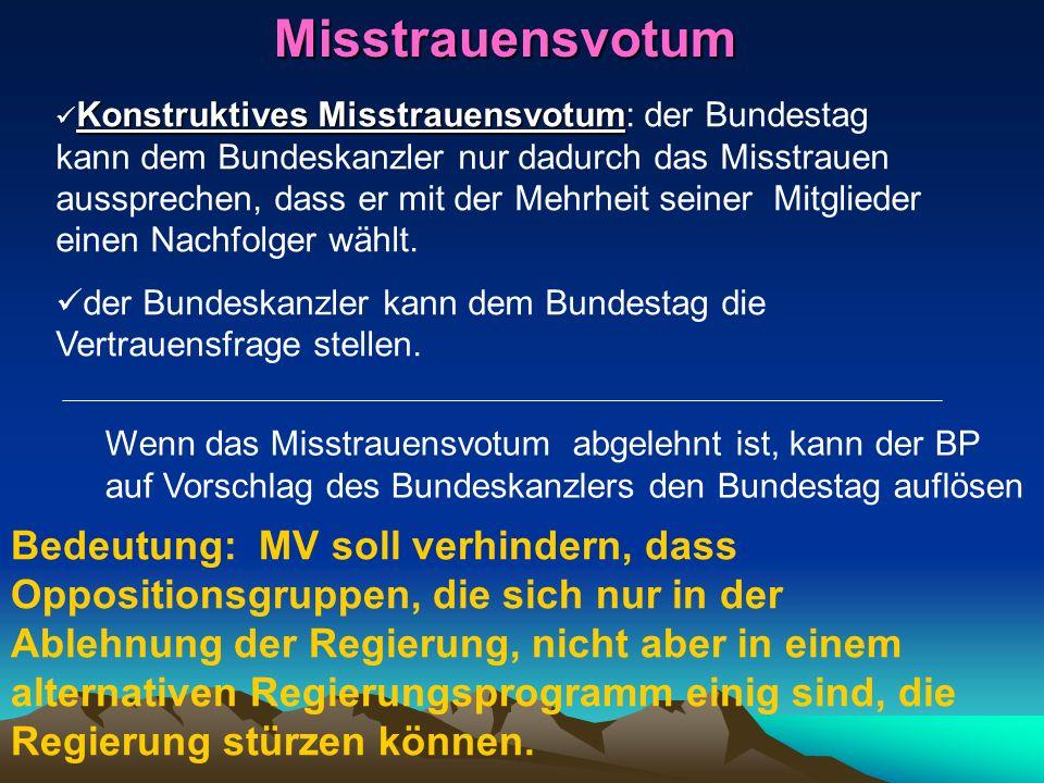 Misstrauensvotum