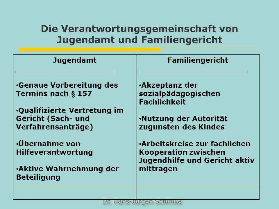 Die Verantwortungsgemeinschaft von Jugendamt und Familiengericht