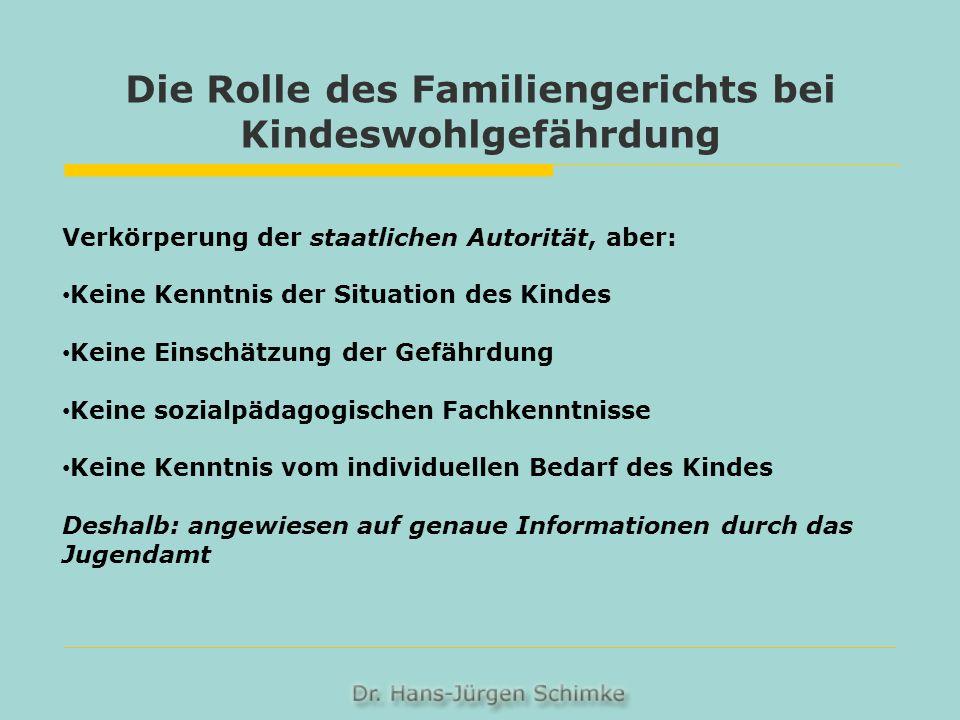 Die Rolle des Familiengerichts bei Kindeswohlgefährdung