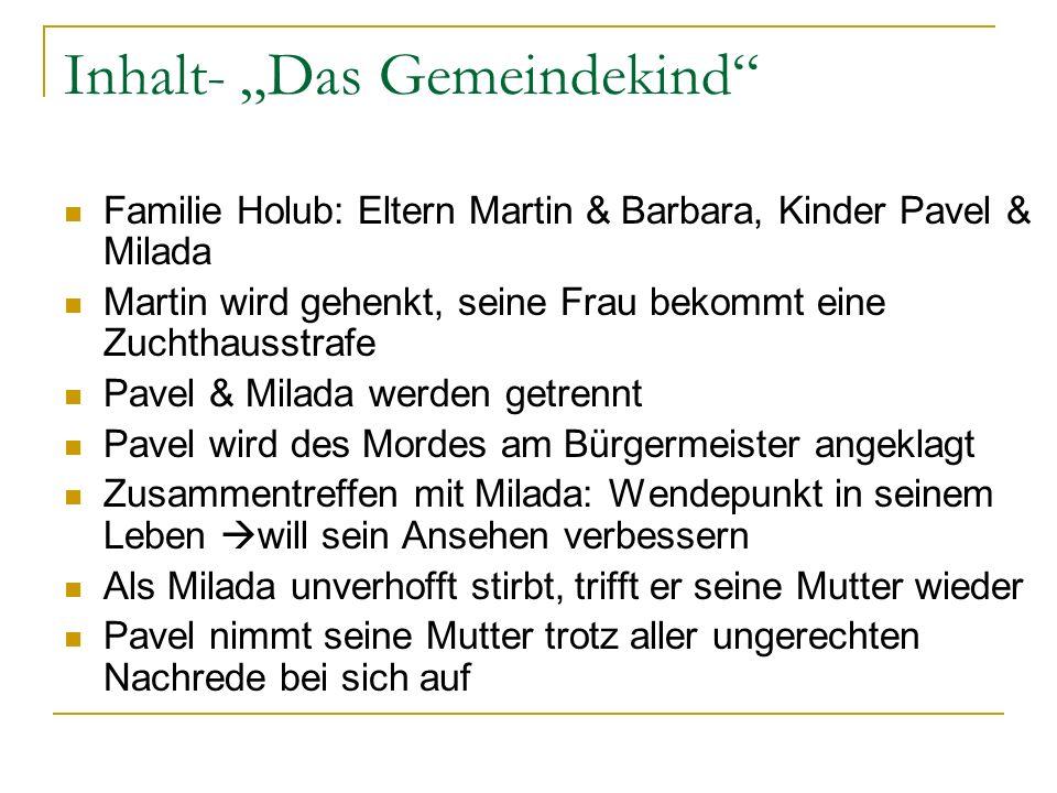 """Inhalt- """"Das Gemeindekind"""