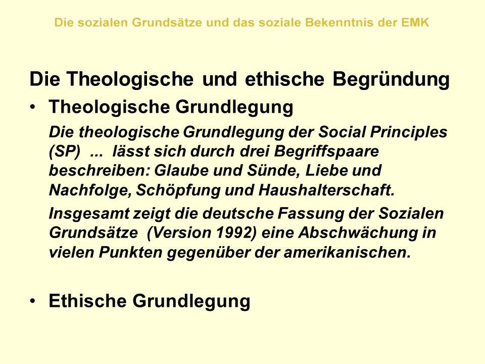 Die Theologische und ethische Begründung